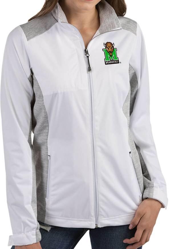 Antigua Women's Marshall Thundering Herd Revolve Full-Zip White Jacket product image