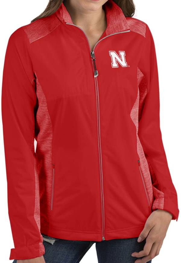 Antigua Women's Nebraska Cornhuskers Red Revolve Full-Zip Jacket product image