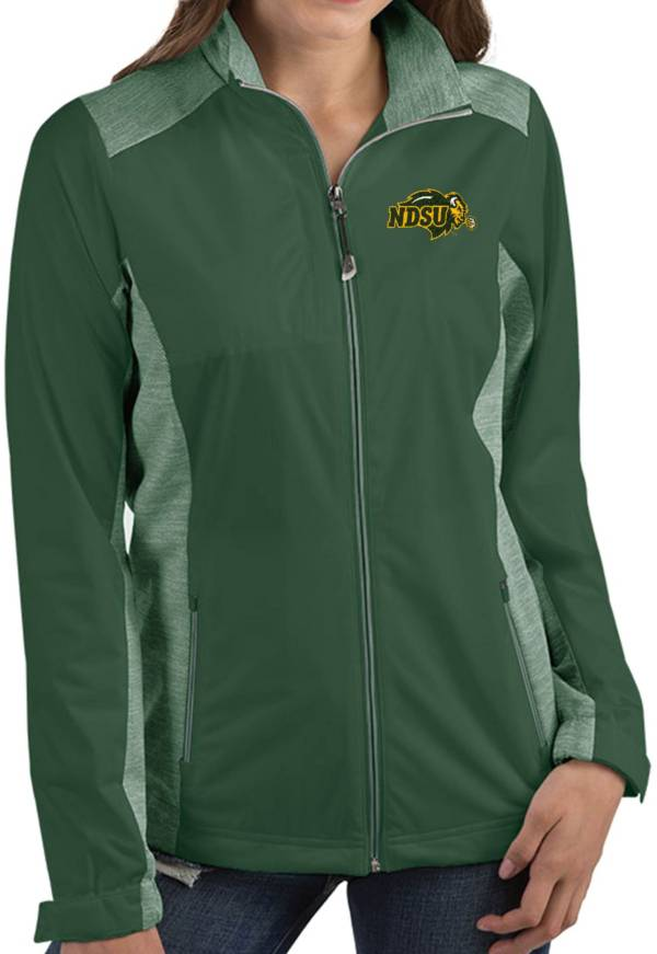 Antigua Women's North Dakota State Bison Green Revolve Full-Zip Jacket product image