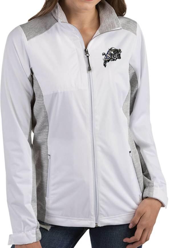 Antigua Women's Navy Midshipmen Revolve Full-Zip White Jacket product image