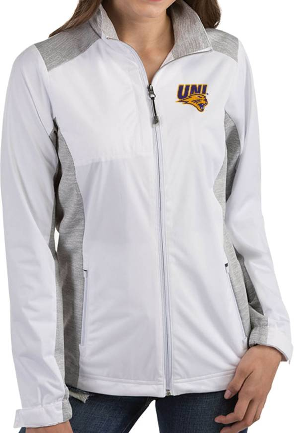 Antigua Women's Northern Iowa Panthers  Revolve Full-Zip White Jacket product image