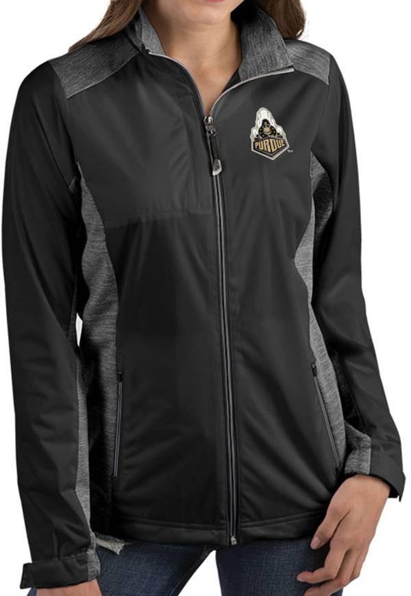 Antigua Women's Purdue Boilermakers Revolve Full-Zip Black Jacket product image