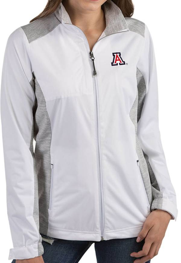 Antigua Women's Arizona Wildcats Revolve Full-Zip White Jacket product image