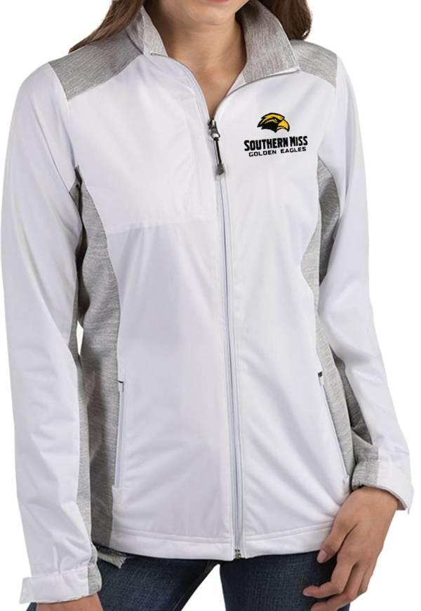 Antigua Women's Southern Miss Golden Eagles Revolve Full-Zip White Jacket product image