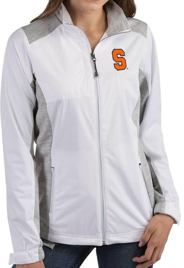 Antigua Women's Syracuse Orange Revolve Full-Zip White Jacket product image