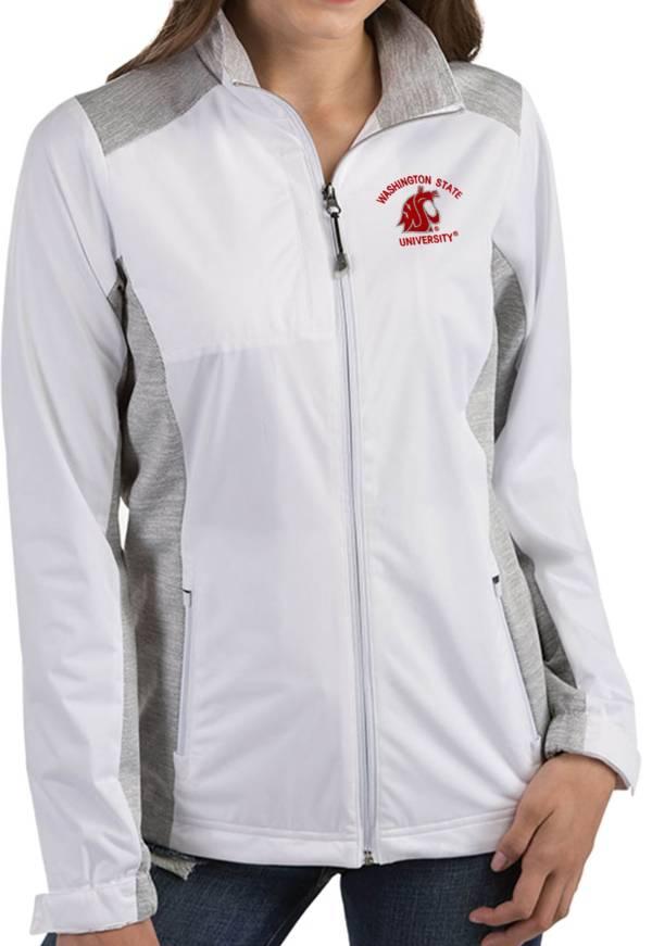 Antigua Women's Washington State Cougars Revolve Full-Zip White Jacket product image