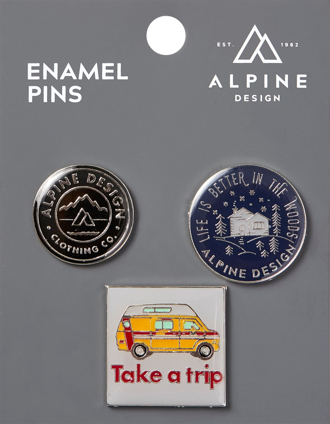 Alpine Design 3 Pack of Silver Pins