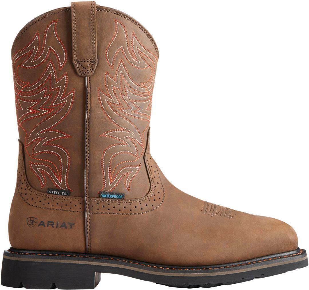 eb17fcda700 Ariat Men's Sierra Delta Waterproof Steel Toe Western Work Boots