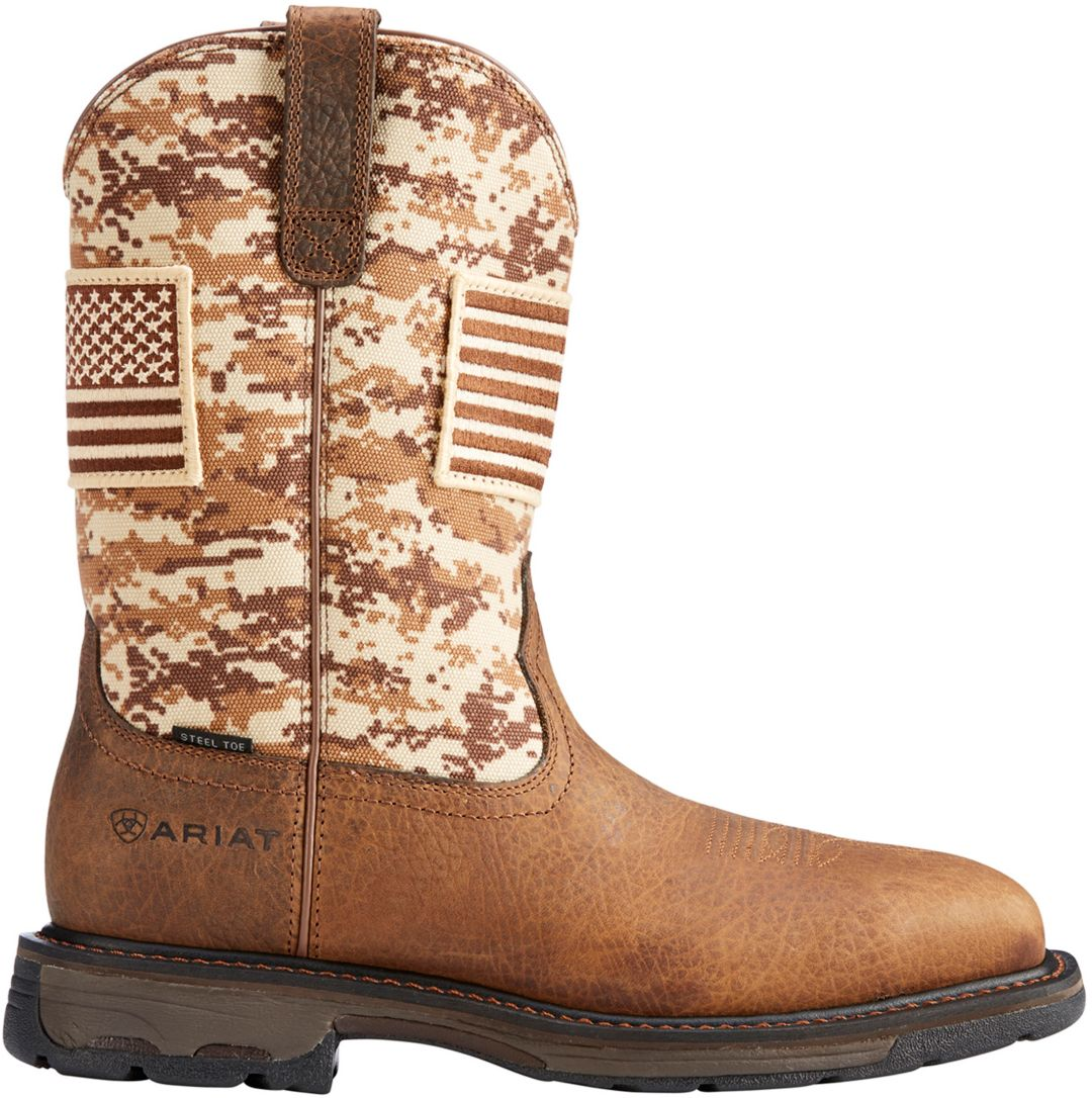 263fc637cf8 Ariat Men's Workhog Patriot Steel Toe Western Work Boots