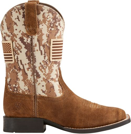 b30d8afd8 Ariat Kids Patriot Western Cowboy Boots Boys