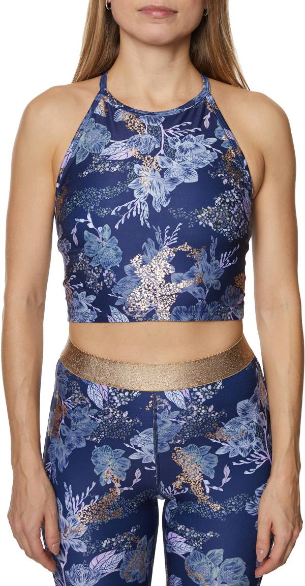 Betsey Johnson Women's High Neck Printed Sports Bra product image