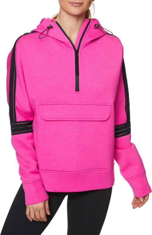 2148c00f Betsey Johnson Women's Clear Taping Half Zip Pullover | DICK'S ...
