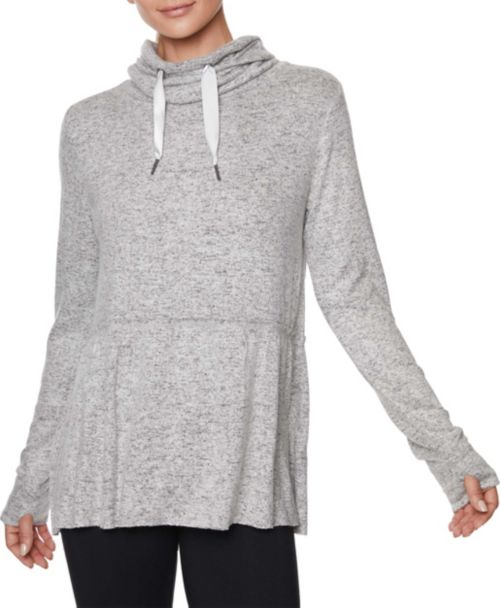 246941987 Betsey Johnson Women s Cowl Neck Peplum Sweatshirt