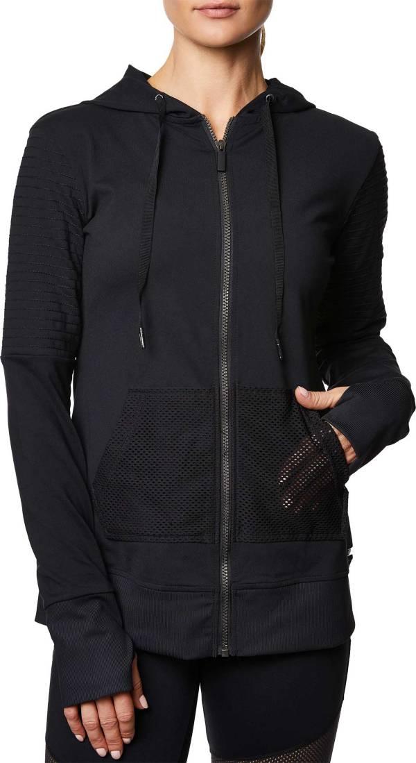 Betsey Johnson Performance Women's Moto Detail Zip Up Hoodie product image