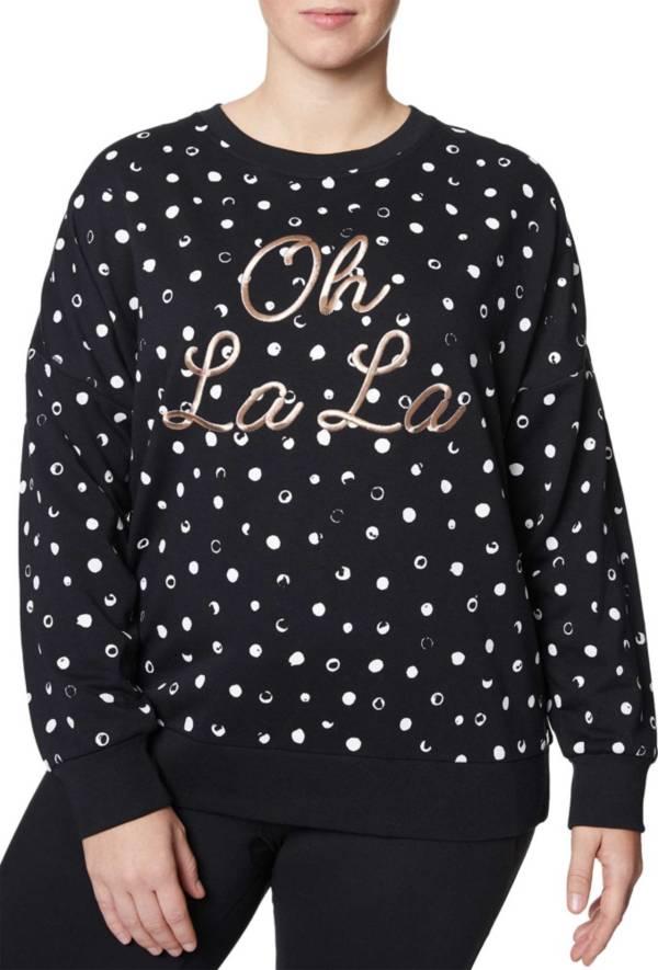 Betsey Johnson Women's Plus Size 'Oh La La' Painted Dot Pullover product image