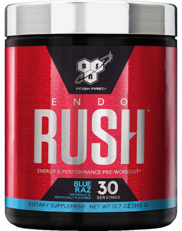 BSN ENDORUSH Pre-Workout Blue Raspberry 30 Servings product image