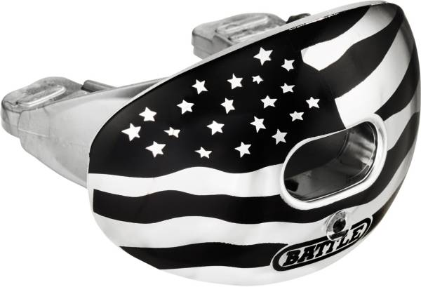 Battle Sports Science Oxygen American Flag Chrome Lip Guard product image