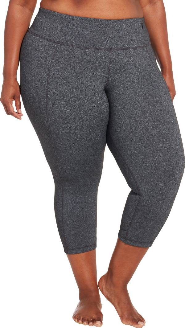 CALIA by Carrie Underwood Women's Plus Size Essential Crossover Heather Tight Fit Capris product image