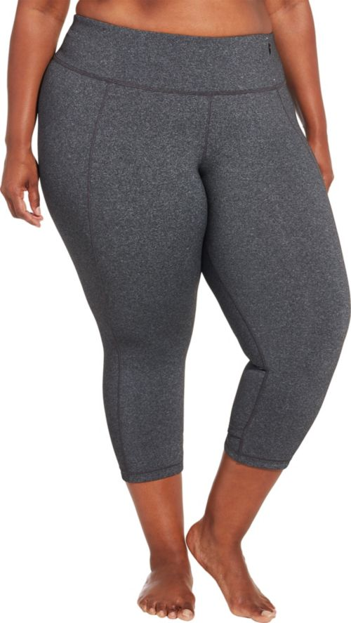 3d5b3dc176 CALIA by Carrie Underwood Women's Plus Size Essential Crossover Heather  Tight Fit Capris. noImageFound. Previous