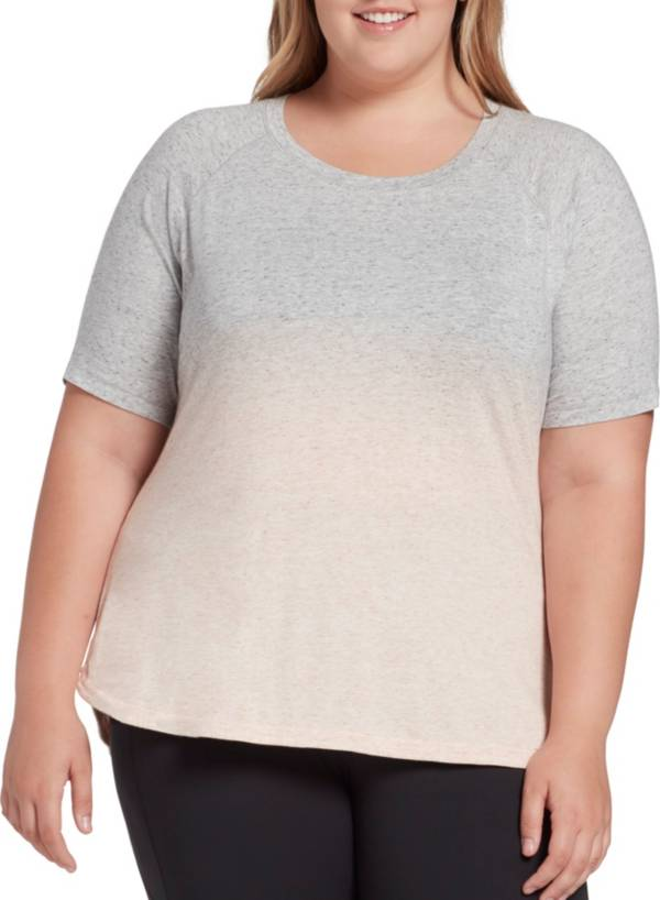 CALIA by Carrie Underwood Women's Plus Size Everyday Dip Dye Heather T-Shirt product image