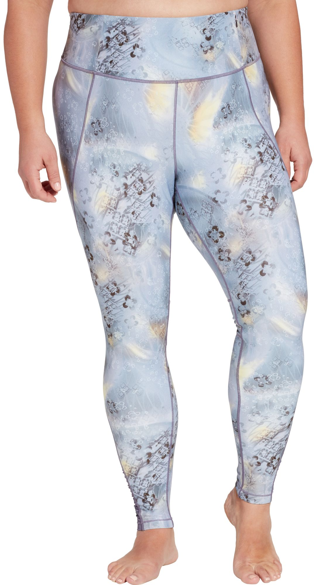 d0aaa47db9e1 CALIA by Carrie Underwood Women's Plus Size Essential Printed High Waist  Ruched Leggings. noImageFound. Previous. 1