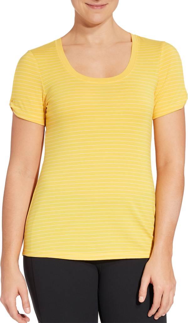 CALIA by Carrie Underwood Women's Stripe Twist Sleeve T-Shirt product image