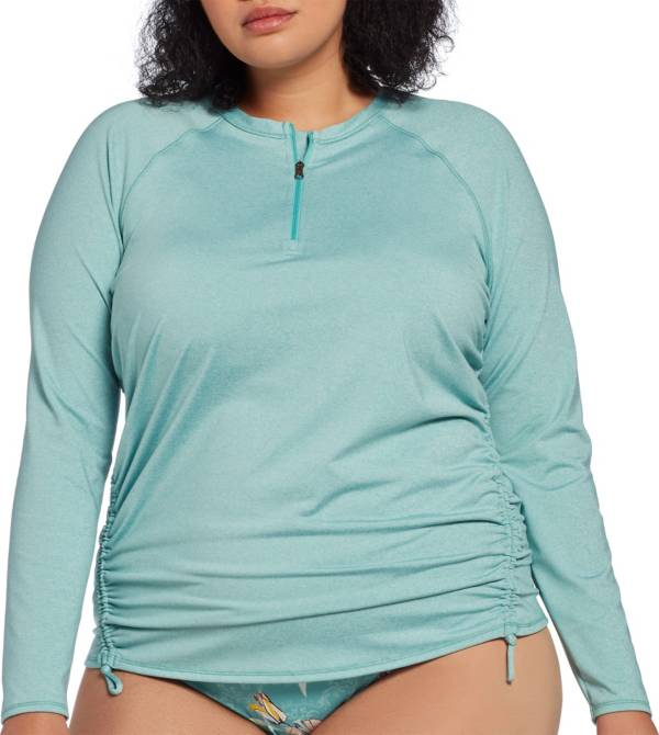 CALIA by Carrie Underwood Women's Plus Size Long Sleeve Zip Up Rash Guard product image