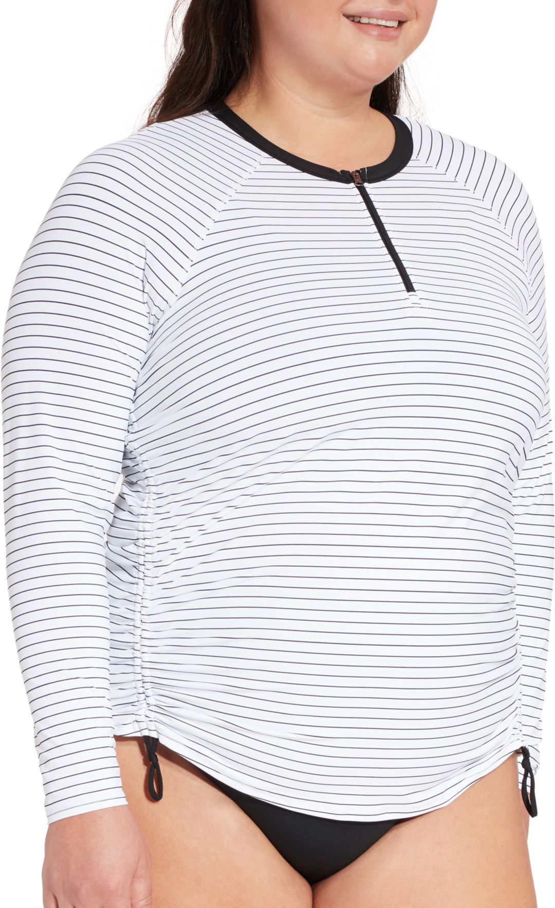 4296efa9e72 CALIA by Carrie Underwood Women's Plus Size Long Sleeve Zip Up Printed Rash  Guard   DICK'S Sporting Goods