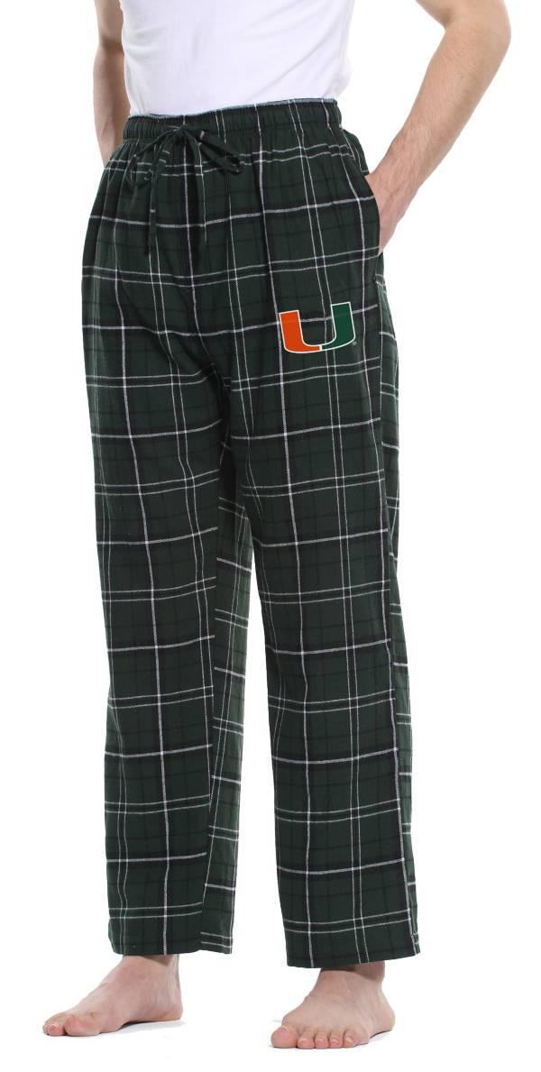 Concepts Sport Men's Miami Hurricanes Green/Black Ultimate Sleep Pants product image