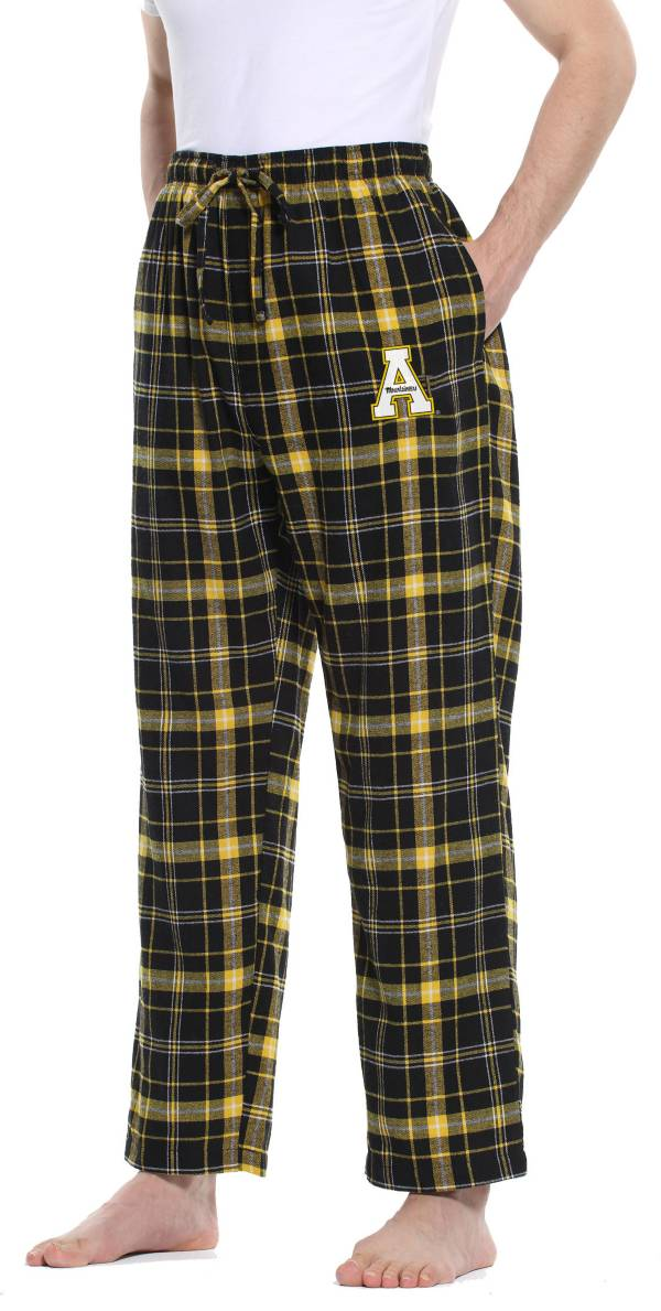 Concepts Sport Men's Appalachian State Mountaineers Black/Gold Ultimate Sleep Pants product image