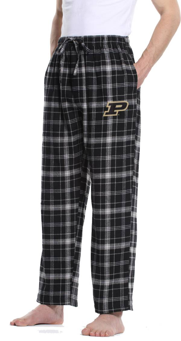 Concepts Sport Men's Purdue Boilermakers Black/Grey Ultimate Sleep Pants product image