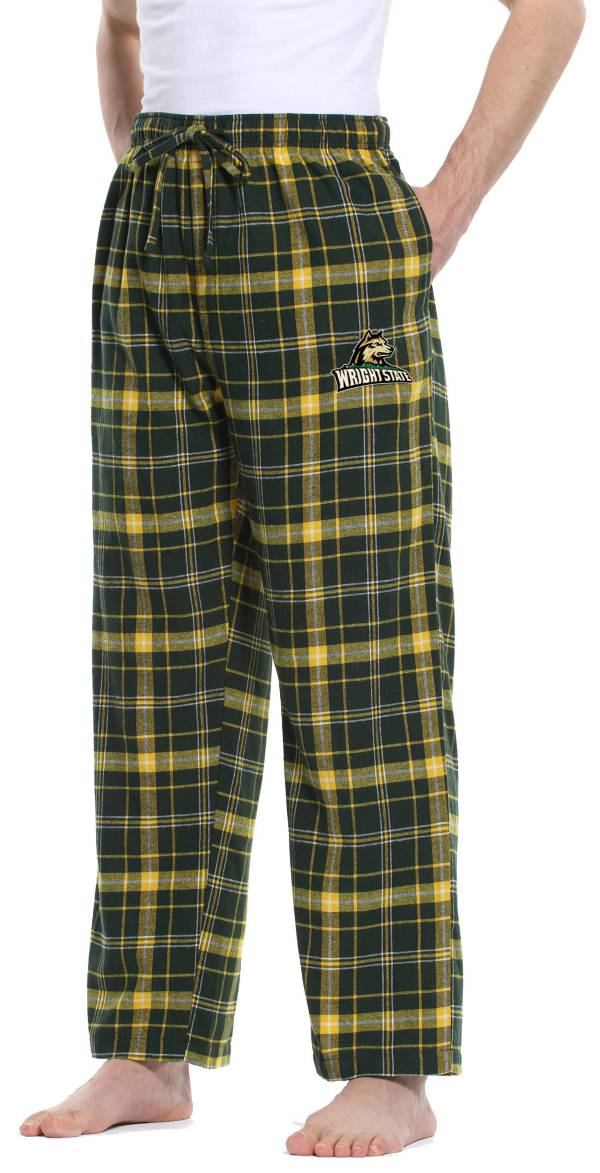 Concepts Sport Men's Wright State Raiders Green/Gold Ultimate Sleep Pants product image