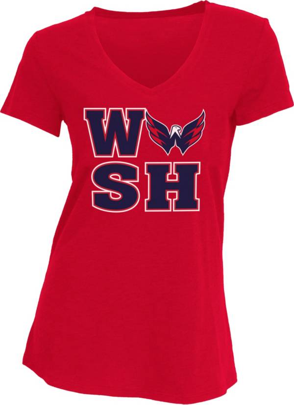 Concepts Sport Women's Washington Capitals WSH Red V-Neck T-Shirt product image