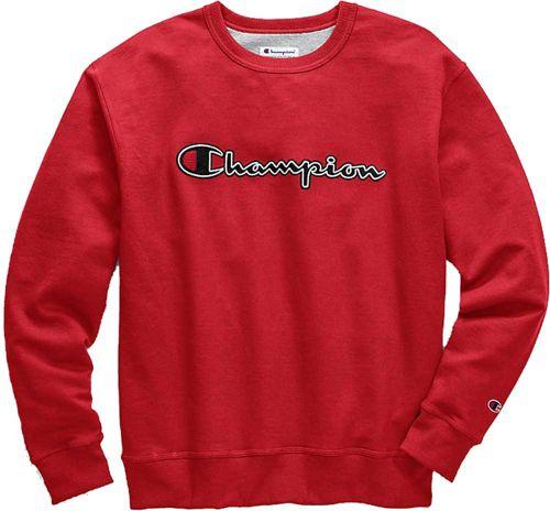 0c13b5bf Champion Men's Stitched Script Fleece Crew Pullover | DICK'S ...
