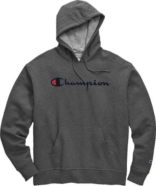 7226b0cf6b66 Champion Men s Powerblend Script Graphic Hoodie