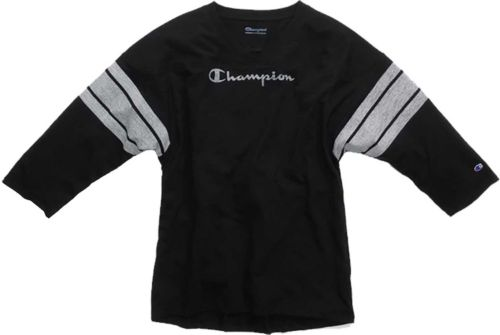 174b8eb3 Champion Women's Heritage Football ¾ Length Sleeve Shirt. noImageFound. 1