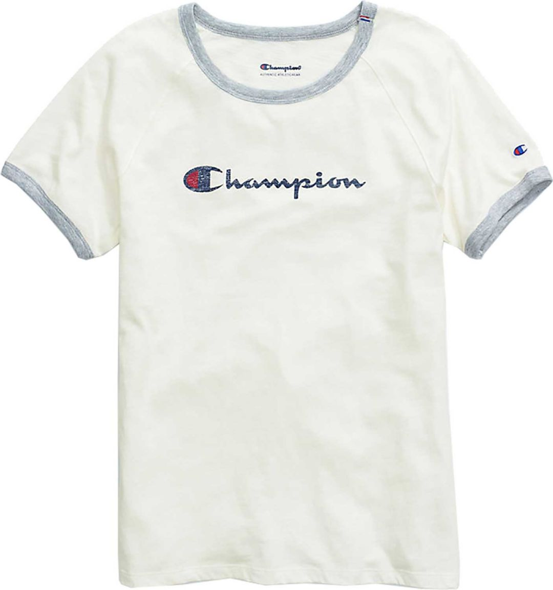 49fdd6341e1e Champion Women's Heritage Ringer T-Shirt | DICK'S Sporting Goods