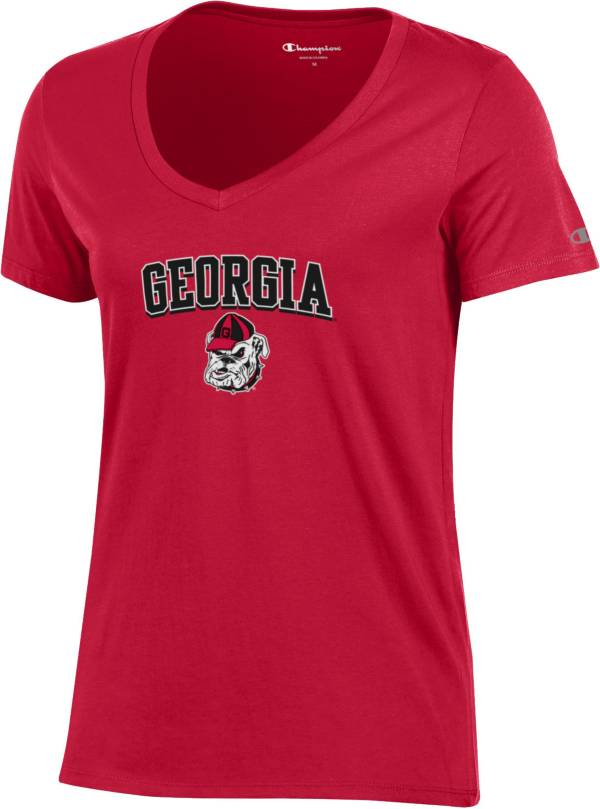 Champion Women's Georgia Bulldogs Red V-Neck T-Shirt product image