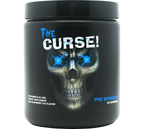 Cobra Labs The Curse! Pre-Workout Blue Raspberry Ice 50 Servings