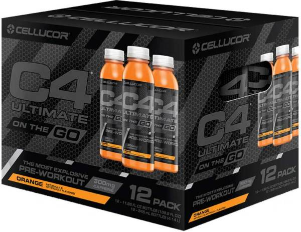 Cellucor C4 Ultimate On The Go Pre-Workout Drink Orange 12-Pack product image