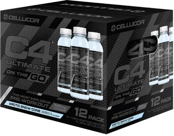 Cellucor C4 On The Go Pre-Workout Drink Snow Cone 12-Pack product image