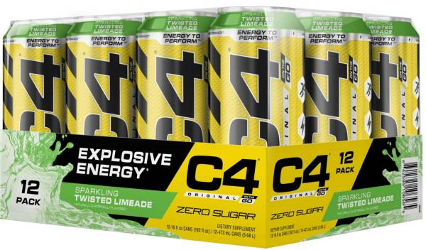 Cellucor C4 On The Go Pre-Workout Drink Sparkling Limeade 12-Pack product image