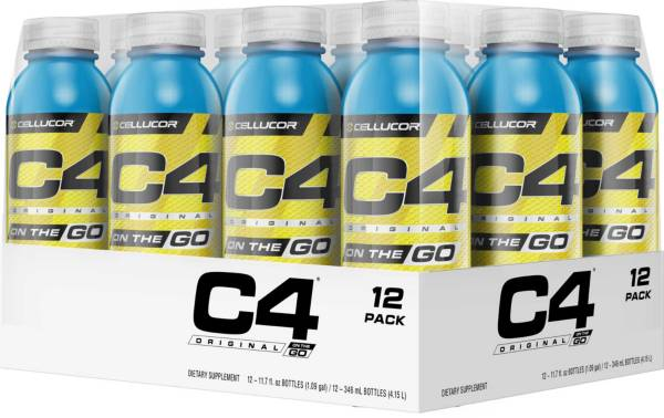 Cellucor C4 On The Go Pre-Workout Drink Icy Blue Razz 12-Pack product image