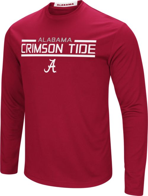 55823c8f Colosseum Men's Alabama Crimson Tide Crimson Long Sleeve Performance T-Shirt.  noImageFound. 1