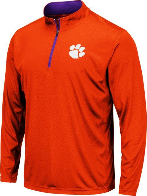 Colosseum Men s Clemson Tigers Orange Embossed Quarter-Zip Performance Shirt.  noImageFound. 1 f2f6bf66c