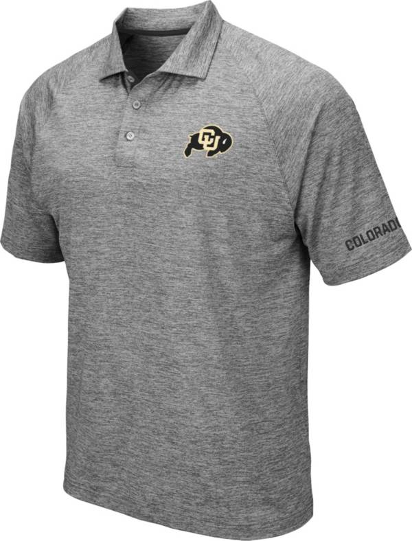 Colosseum Men's Colorado Buffaloes Grey Chip Shot Polo product image