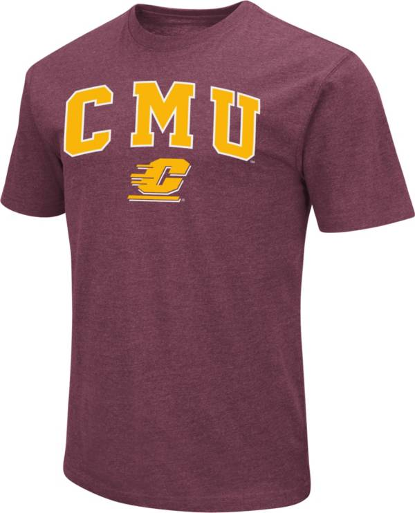 Colosseum Men's Central Michigan Chippewas Maroon Dual Blend T-Shirt product image