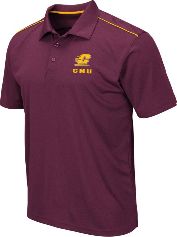 Colosseum Men's Central Michigan Chippewas Maroon Eagle Polo product image