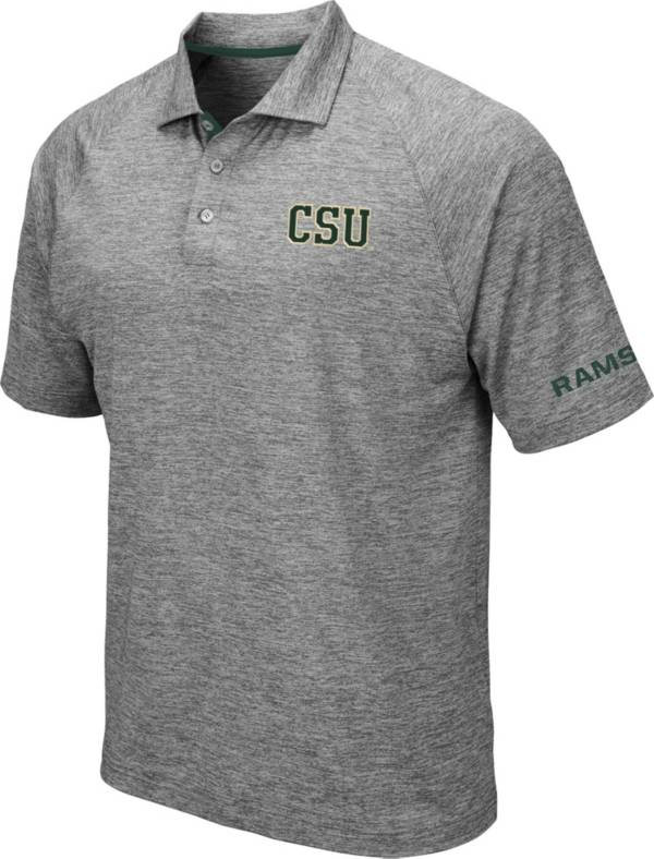 Colosseum Men's Colorado State Rams Grey Chip Shot Polo product image