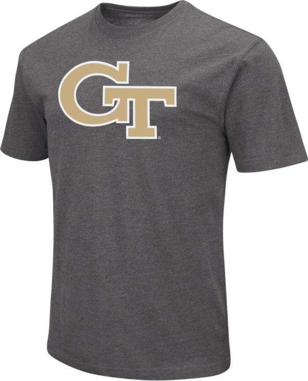 Colosseum Men's Georgia Tech Yellow Jackets Grey Dual Blend T-Shirt product image